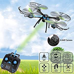 kingtoys® JJRC H98 2.4 GHz de 4 canales 6-Axis Gyro RC Quadcopter 0.3 MP HD Sin Cabeza