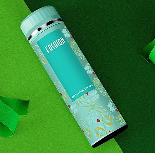Green Fashion Flower Bottle Insulated Flask Travel Mug For Lady 15Oz by Travel Mugs