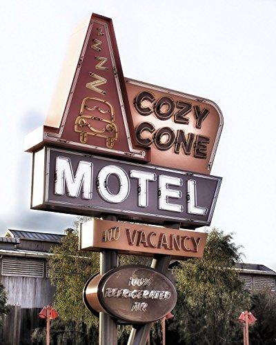 (Cozy Cone Neon Motel Sign Neon Sign Photography Retro Décor Kids Room Décor Whimsical Art Home Wall Decor)