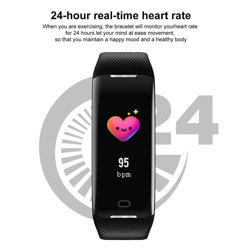... Screen Professional Waterproof Pedometer Wristband, Heart Rate Monitor, Sleep Calories Monitor Call Reminder Bluetooth Fitness Tracker for Android & iOS