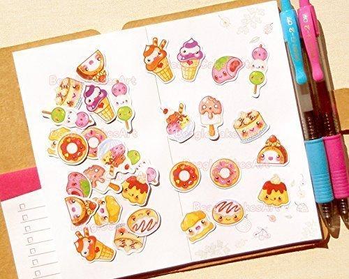 Pastry Stickers. Pastry Planner Stickers. Kawaii Sticker Pack. Cake Stickers. Baking Sticker. Cupcake Sticker. Stickers for Planner. ECLP. Ice Cream Sticker. Donut Sticker. Desserts Sticker.