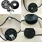 2 Pcs Black Foot Pedal Push Switch Inline Lamp Light On-off Control Footswitch