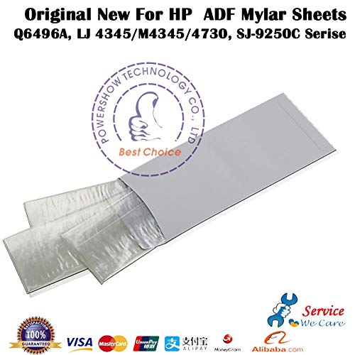 Printer Parts Original New for HP4730 M4730MFP HP4345 M4345, ScanJet for HP9200 HP9250C ADF Mylar Sheets Q6496A Printer Parts