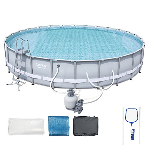 Bestway Steel Pro 26' x 52'' Frame Pool Set w/ Pump, Ladder, & Ground/ Top Covers by Bestway