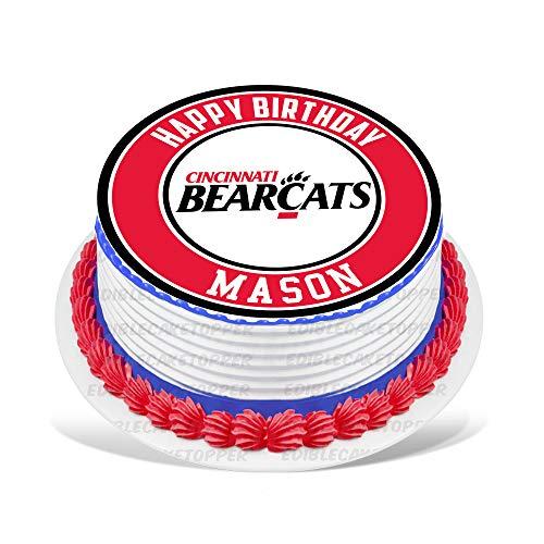 Cincinnati Bearcats Edible Cake Topper Personalized Birthday 8