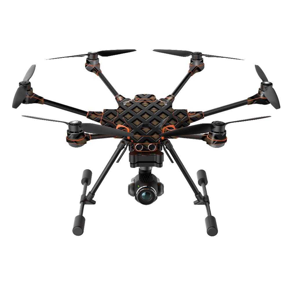 MightySkins Skin Compatible with Yuneec H520-G Quadcopter Drone - Black Wall | Protective, Durable, and Unique Vinyl Decal wrap Cover | Easy to Apply, Remove, and Change Styles | Made in The USA