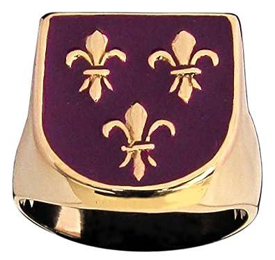 Bague 3 Fleurs De Lys Fleur De Lis Symbole Royaute France En