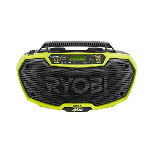 Radio Stereo Bluetooth - Ryobi P746 One+ 18-Volt Lithium Ion / AC Dual-Powered AM/FM Stereo System with USB and Bluetooth Technology (Battery, Charger, and Extension Cord Not Included / Radio Only)