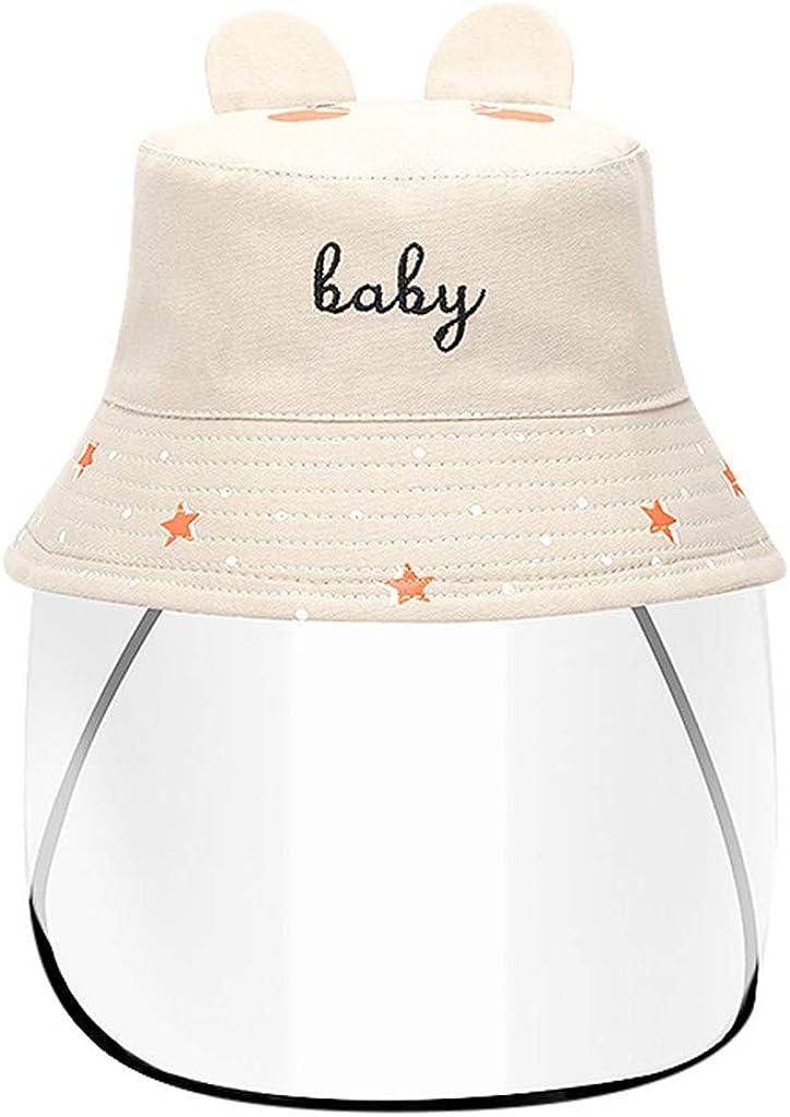 Longra Cappello Protettivo Antipolvere Anti UV Protezione Solare Bambini Ragazzi Ragazze Pescatore Cappello con Castone Trasparente Anti Droplets Cappello da Sole
