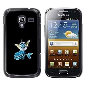 TaiTech / Prima Delgada SLIM Casa Carcasa Funda Case Bandera Cover Armor Shell PC / Aliminium - Azul Pekemon - Samsung Galaxy Ace 2