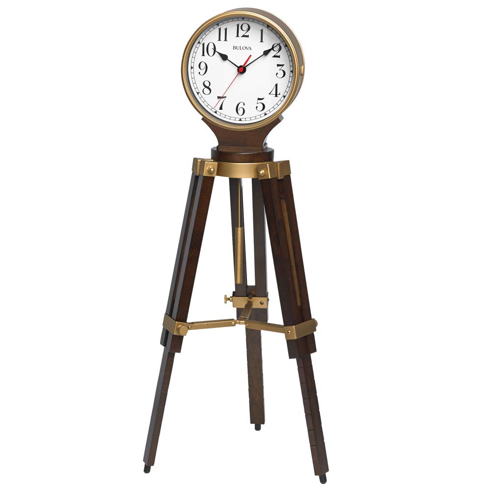 Bulova Rowayton Chiming Mantel Clock, Brown