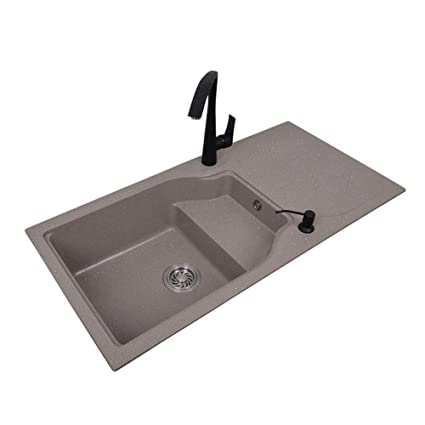 Amazon.com: Kitchen Sinks Quartz Kitchen Sink- For both ...