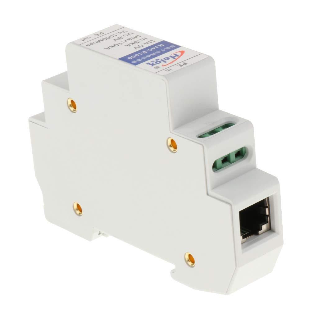 H HILABEE Pararrayos De Protecci/ón contra Sobrevoltaje del Dispositivo LAN De RJ-45 10//100 1000Mbps Ethernet
