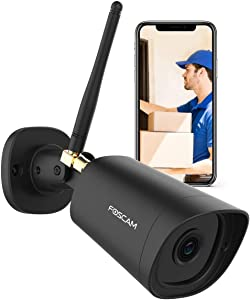 Outdoor Security Camera, Foscam G2 1080P WIFI Surveillance Home Camera IP66 Waterproof WIFI IP Camera with Human Detection Night Vison Compatible with Alexa,Cloud Service Available