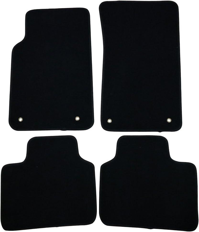 Black CFMBX1PN7389 Coverking Custom Fit Front and Rear Floor Mats for Select Pontiac Luxury LeMans Models Nylon Carpet