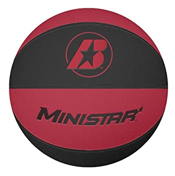 Amazon.com : Baden MiniStar Mini Size 3 Rubber Basketball, Red ...
