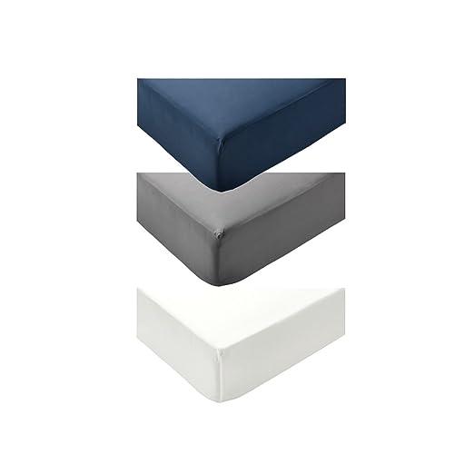 Betttuch 90x200cm IKEA ULLVIDE Spannbettlaken in grau;
