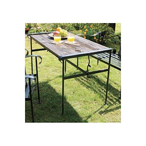 オンリーワン アイアン+バーンウッドテーブル 『ガーデンテーブル』 バーンブラック NA5-T01BB B00PRRII46