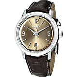 Vulcain 50s President's Men's Brown Leather Strap Automatic Alarm Watch 210150.277LF