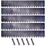 Edge Right - Hammer-in Landscape Edging - 48 inch Strips - 14-Gauge Cor-Ten Steel - 8 inch Depth (5 Pack)