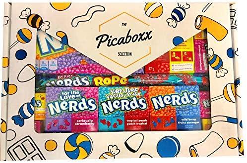 Picaboxx Wonka Nerds Caja de regalo American Candy Selection ☆ 12 productos Value Pack ☆ American Candy Hamper ☆ Caja de regalo dulce con escaparate: Amazon.es: Alimentación y bebidas