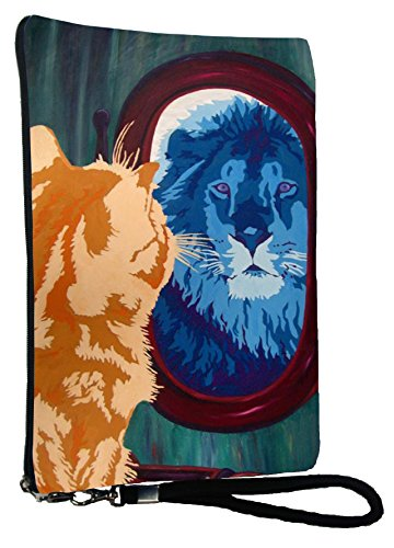 Cat Large Wristlet - From My Original Painting, Salvador's Reflection