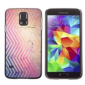 X-ray Impreso colorido protector duro espalda Funda piel de Shell para SAMSUNG Galaxy S5 V / i9600 / SM-G900F / SM-G900M / SM-G900A / SM-G900T / SM-G900W8 - Cracked Pink Blue Brown Red