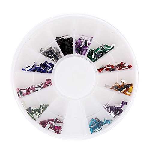 Fashion 3D Nail Art Decoration Colorful Coated Glitter Small Square Nail Tips - Shops Herald Square