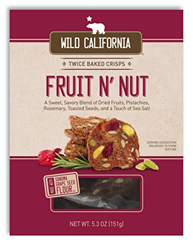 - Wild California, Crisps Fruit N' Nut, 5.3 Ounce