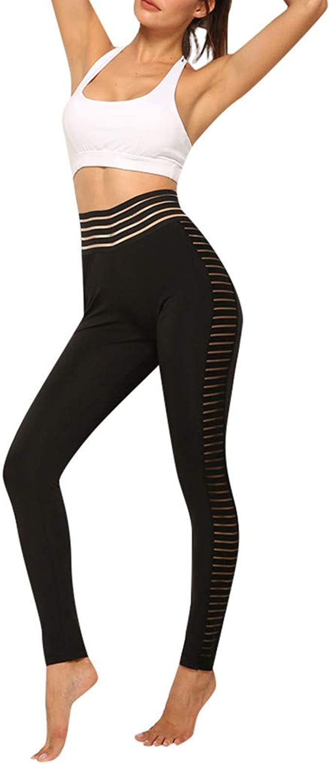 RISTHY Mujer Pantalones Largos Deportivos Leggings para Running ...