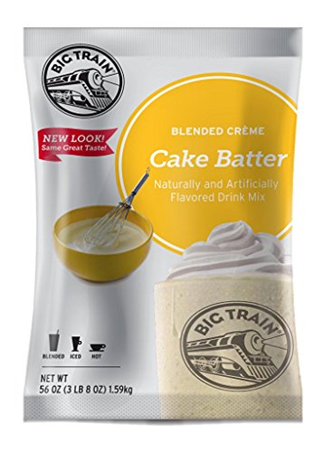 Big Train Blended Creme Mix, Cake Batter, 3.5 Pound