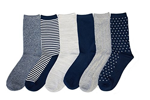 Cuddl Duds Womens 6 Pack Supersoft Warm Crew Socks