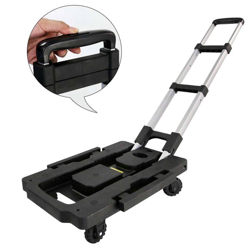 トロリー、折りたたみ携帯用ハンドリングトロリー家庭用カート引く商品フラットベッドトロリー B07RDMTQNY