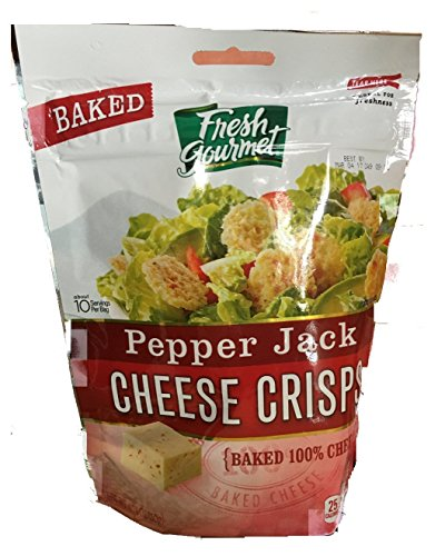 Fresh Gourmet Pepper Jack Cheese Crisps-Case of 9 (nine) 1.76 oz Packages