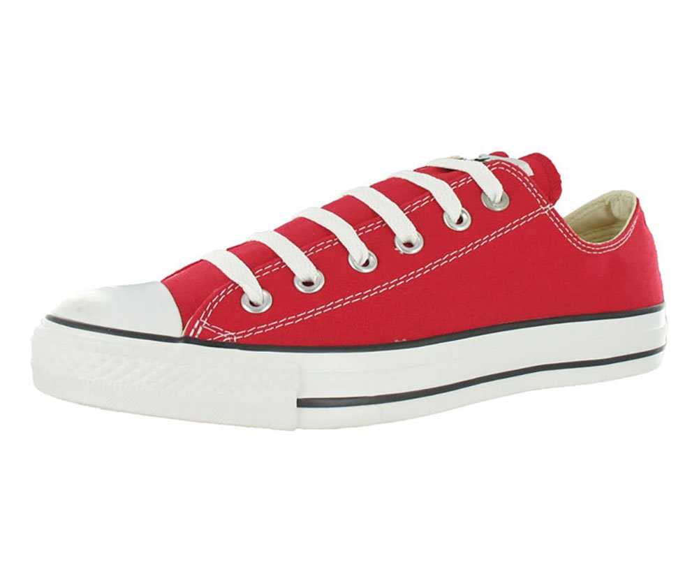 Converse Unisex Chuck Taylor All Star Low Top Red Sneakers - 7 D(M) US