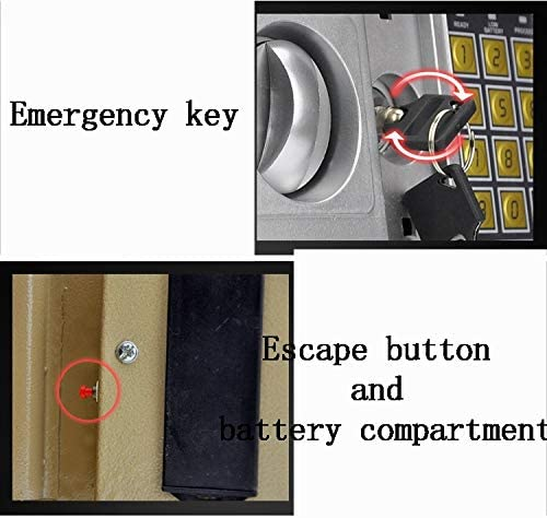 Color : Style4, Size : 31x20x20cm Electronic Digital Security Safe Box Password Keypad Key Lock for Home Office Hotel Use Jewelry Cash Valuables Storage ZCF Security Safes Mini Safe