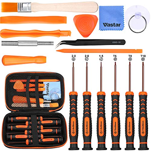 Vastar 17Pcs Triwing Screwdriver Set for Nintendo - Full Professional Screwdriver Bit Repair Tool Kit with S2 Steel for Nintendo New 3DS/2DS XL/NES/SNES Classic (2017)/Nintendo NDS/NDS from Vastar