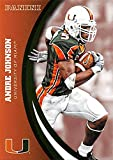 Andre Johnson football card (Miami Hurricanes) 2015 Panini Team Collection #36