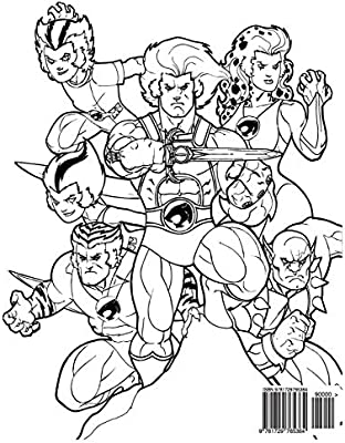 Thundercats Coloring Book: Coloring Book for Kids and Adults ...