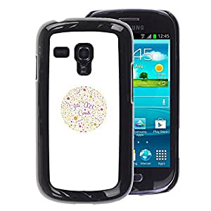A-type Arte & diseño plástico duro Fundas Cover Cubre Hard Case Cover para Samsung Galaxy S3 MINI 8190 (NOT S3) (Quote Optometrist Color Vision)