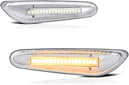 BMW 7 Series Replacement Side Marker Light White Indicator 1-Pair