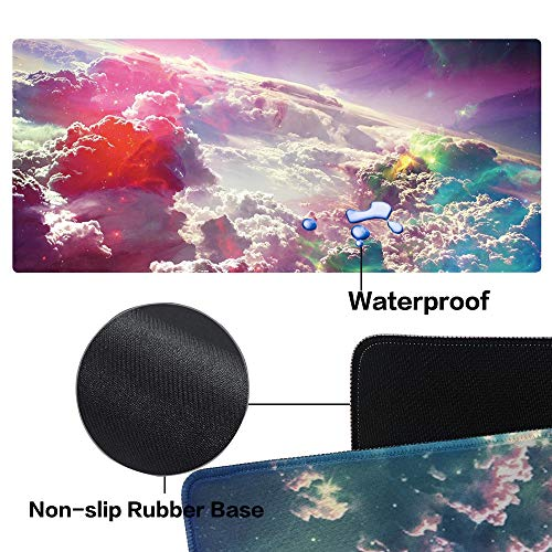 Leebei Mouse Pad Large Gaming Mouse Pad XL Rubber Waterproof Non-Slip Large Pad