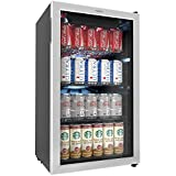 hOmeLabs Beverage Refrigerator and Cooler - Mini Fridge with...