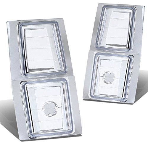 For Chevy C/K-series 2-PC Corner Light Lamps - Chrome Housing (94-98)