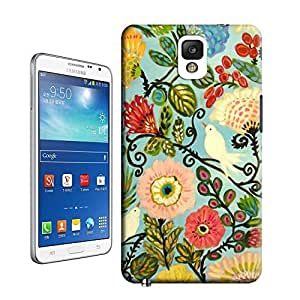 tostore Birds Bohemian Cottage Style Flowers Art Print case battery cover for samsung galaxy note 3