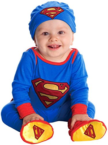 DC Comics Superman Onesie And Headpiece, Blue, Newborn -