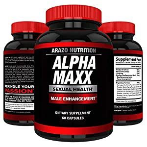 AlphaMAXX Male Enhancement Supplement - Ginseng, Muira Puama, Tribulus - 60 Herbal Pill - Arazo Nutrition Enhancement Pills - 51Q 2BCRntdSL - Enhancement Pills