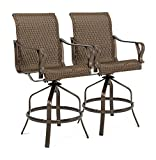 La-Z-Boy Outdoor ROC-BS-2PK-W Rochester Patio Bar Stools