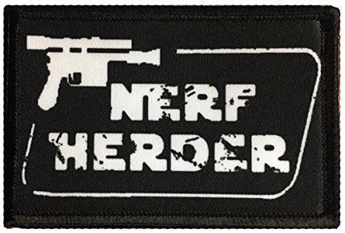 Star Wars Han Solo Nerf Herder Morale Patch. Perfect for your Tactical Military Army Gear, Backpack, Operator Baseball Cap, Plate Carrier or Vest. 2x3 Hook and Loop Patch. Made in the USA