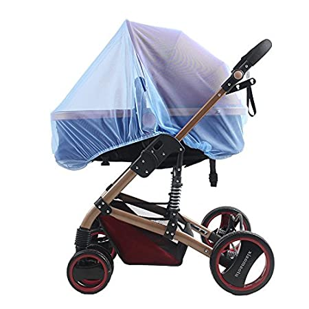 Azul cuna de viaje del Seguro Bebe Mosquitera para Cochecito Beb/é,Hoyoo,Cubierta Protecci/ón para Carrito de Bebe,Red antiinsectos universal para silla de paseo
